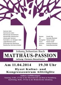 Plakat Matthäus-Passion (2)