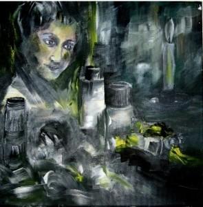 acrylbild-im Atelier