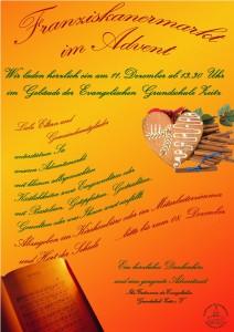 Plakat Franziskanermarkt