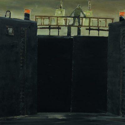 Schleuse 1, Öl auf Leinwand, 1989