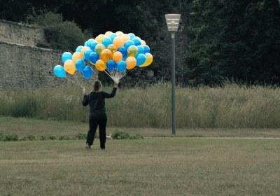 luftballons auf reisen