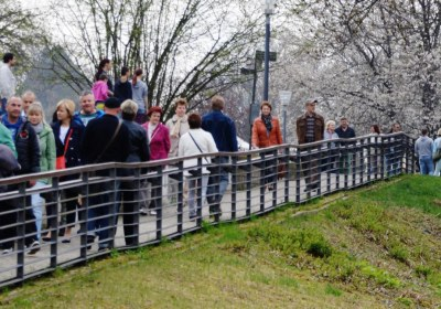 Besucherströme am Nachmiittag