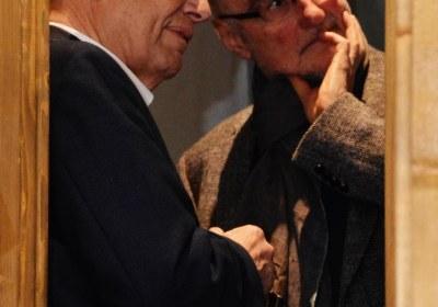 Curt Becker und Roland Rittig beim Fachsimpeln