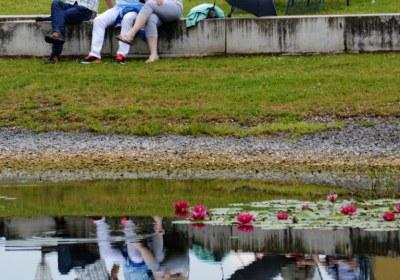 Gute Laune im Schlosspark
