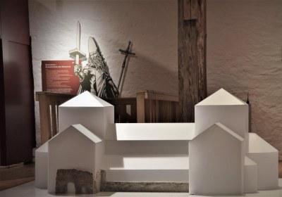 Modell des Klosters Memleben