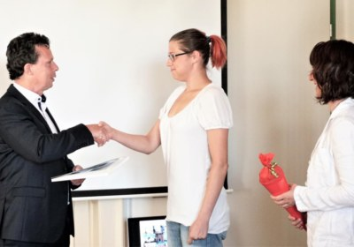 Glückwunsch zum Ausbildungsvertrag