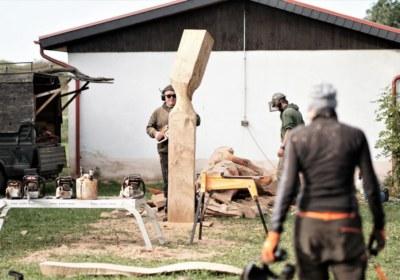 Holzkunstbaustelle