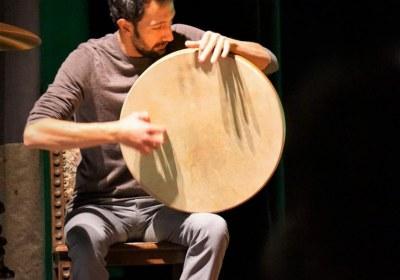 Soubhi Shami an orientalischen Trommeln