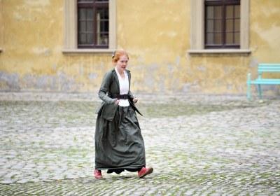 Agnes eiligen Schrittes